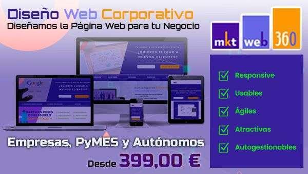 Oferta diseño web corporativo