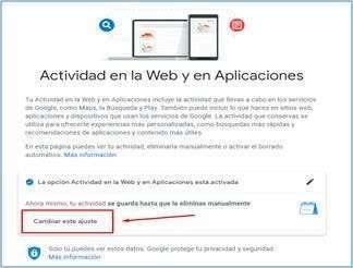 actividad en la web y aplicaciones