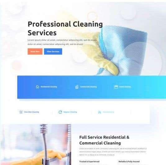 Plantilla web para tu empresa de limpieza